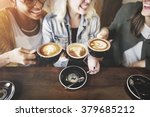 Women Friends Enjoyment Coffee...
