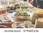 buffet brunch food eating...   Shutterstock . vector #379685236