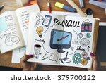 be raw creativity design fresh... | Shutterstock . vector #379700122