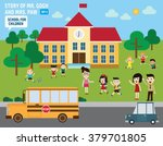 parents take their children to... | Shutterstock .eps vector #379701805