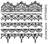 set of isolated knitted lace... | Shutterstock .eps vector #379704892