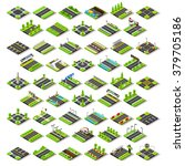 isometric buildings blocks.... | Shutterstock . vector #379705186
