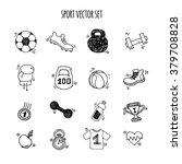 sport hand drawn set vector... | Shutterstock .eps vector #379708828