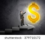 businessman touching dollar sign | Shutterstock . vector #379710172