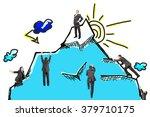 set of businessmen climbing...   Shutterstock . vector #379710175