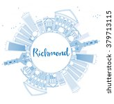 outline richmond  virginia ... | Shutterstock .eps vector #379713115