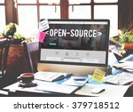 Stock photo open source developer program software user concept 379718512