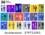 set of vector characters of... | Shutterstock .eps vector #379721092