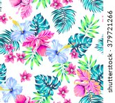 vector tropical pattern.... | Shutterstock .eps vector #379721266