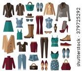 set of clothes. vector...   Shutterstock .eps vector #379725292