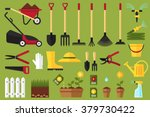 colorful vector set of garden... | Shutterstock .eps vector #379730422