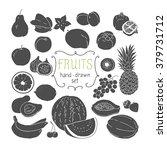 hand drawing fruit set. vector...   Shutterstock .eps vector #379731712