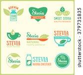 vector set of stevia labels ... | Shutterstock .eps vector #379731835