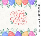 easter background with happy... | Shutterstock .eps vector #379738246