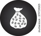 money bag dollars simple icon...