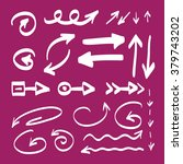 set of hand drawn arrows vector ... | Shutterstock .eps vector #379743202