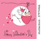happy valentine s day greeting... | Shutterstock .eps vector #37974466