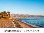 view of eilat beach  israel ... | Shutterstock . vector #379746775