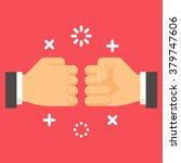 flat design fist bump... | Shutterstock .eps vector #379747606