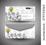 professional doodle envelop... | Shutterstock .eps vector #379755565