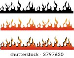 a flame border  can be used as... | Shutterstock .eps vector #3797620