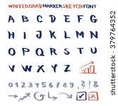 whiteboard marker sketch font.... | Shutterstock .eps vector #379764352