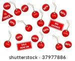 set of discount labels | Shutterstock .eps vector #37977886