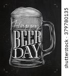 poster glass lettering happy... | Shutterstock .eps vector #379780135