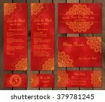 collection of ethnic cards menu ... | Shutterstock .eps vector #379781245