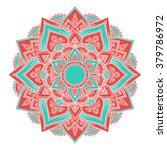round colorful mandala ... | Shutterstock .eps vector #379786972
