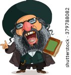 vector. funny jew. travesty... | Shutterstock .eps vector #379788082