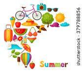 background with stylized summer ... | Shutterstock .eps vector #379788856