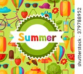 background with stylized summer ... | Shutterstock .eps vector #379788952