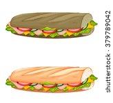 sandwiches   Shutterstock .eps vector #379789042