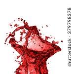red juice splash closeup... | Shutterstock . vector #379798378