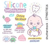 silicone teething jewelry for... | Shutterstock .eps vector #379807816