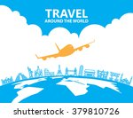 travel infographics  landmark... | Shutterstock .eps vector #379810726