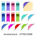 web ribbons set with gradient ... | Shutterstock .eps vector #379815088