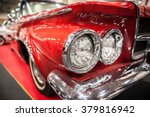 headlights of a red vintage car ... | Shutterstock . vector #379816942