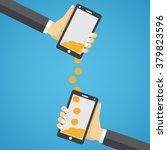 people sending and receiving...   Shutterstock .eps vector #379823596