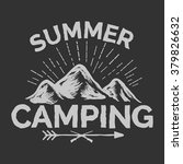 camping label with mounting and ... | Shutterstock .eps vector #379826632