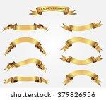 ribbon banner set.golden... | Shutterstock .eps vector #379826956
