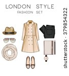 fashion set of woman's clothes... | Shutterstock . vector #379854322