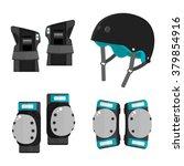 vector set of roller skating... | Shutterstock .eps vector #379854916