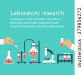 medical laboratory. research ... | Shutterstock .eps vector #379856272