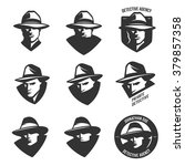 set of detective agency emblems ... | Shutterstock .eps vector #379857358
