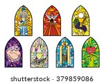 symbols of the seven sacraments ... | Shutterstock .eps vector #379859086