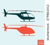 helicopter icon. vector... | Shutterstock .eps vector #379861012
