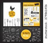 restaurant brochure vector ... | Shutterstock .eps vector #379861456
