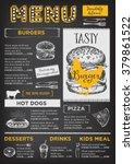restaurant brochure vector ... | Shutterstock .eps vector #379861522